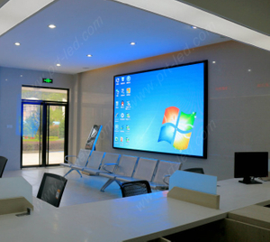 Pantalla LED programable de pared de video P1.9 de 4k para estudio / sala de reuniones