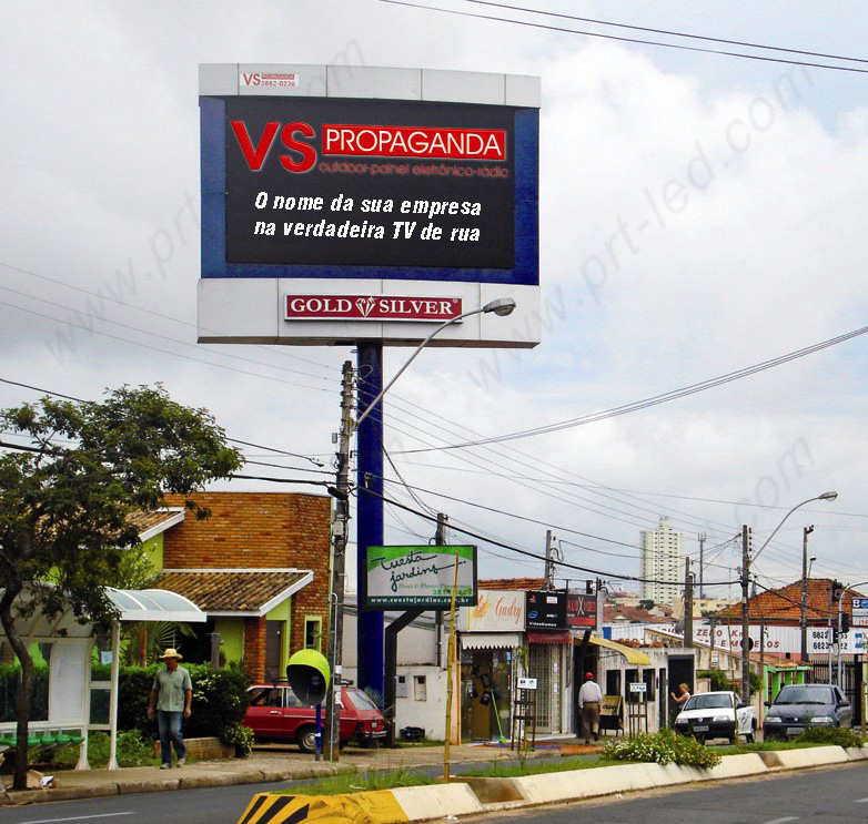Desplazamiento a todo color para exteriores LED Sign P10 High Brightness